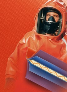 coated fabrics for protective suits