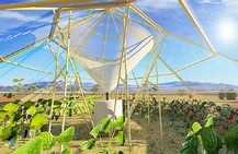 self-sufficient farming greenhouse