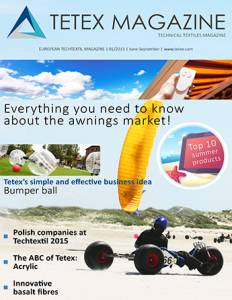 Quarterly technical textiles magazine summer 2015
