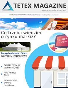 Europejski magazyn tekstyliów technicznych LATO 2015