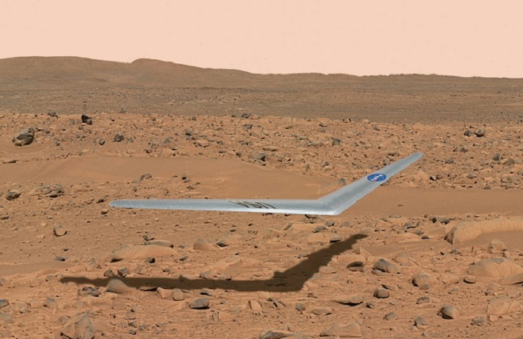 Mars flying wing aircraft