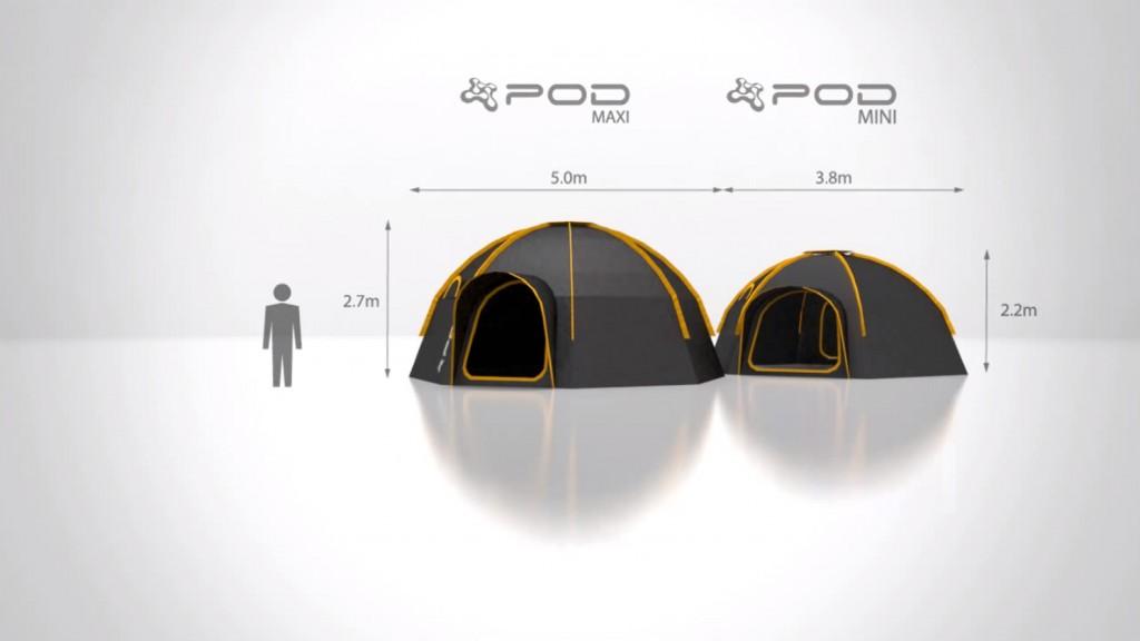 POD Tent Size & Modular POD tents | Tetex.com