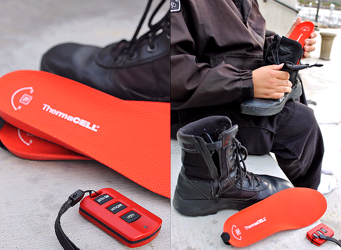 Heated thermal insoles test