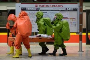 Atak chemiczny na warszawskie metro - ćwiczenia