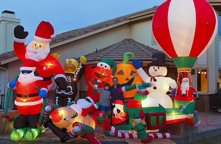 the most ridiculous inflatable christmas decorations
