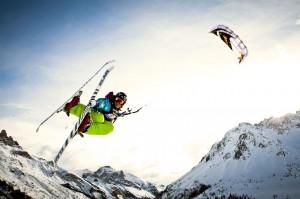 Winter kitesurfing