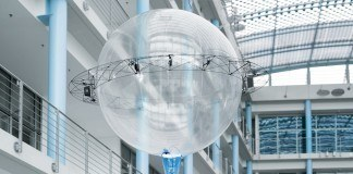 Festo's flying sphere makes the creepiest drone deliveries