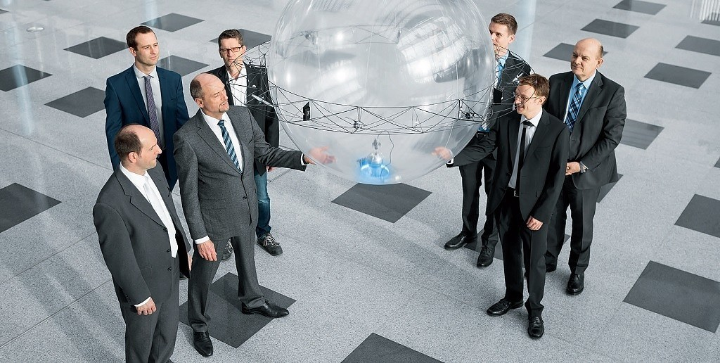 Festo's Flying Sphere Robot Can Grab and Carry Objects