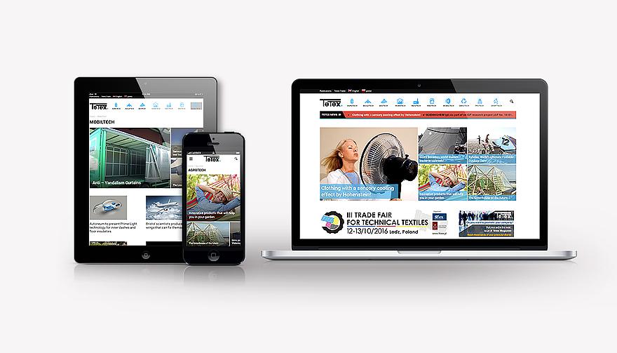 portal branżowy Tetex - codzienne nowości ze świata tekstyliów technicznych