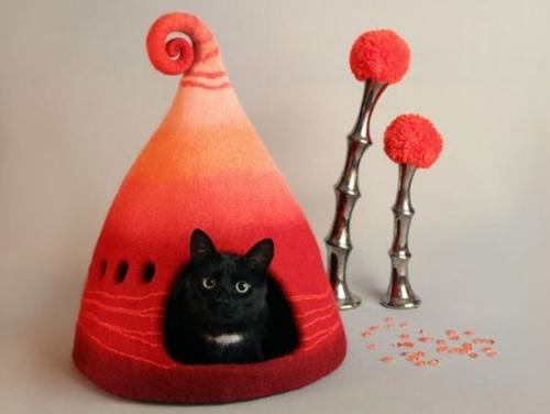 nietypowe domki dla kotów