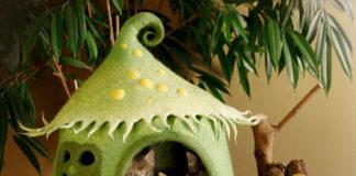 bajkowe domki dla kotów