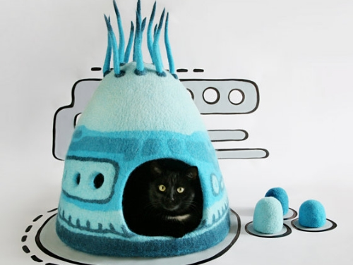 ciekawe domki dla kotów