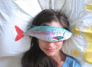 Kompres na oczy - ryba