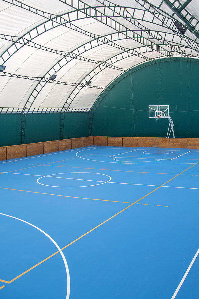Basketball indoor playcourt