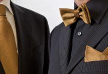 złota nić - muszki, krawaty
