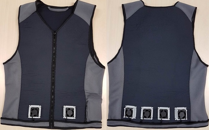 Cooling vest front and back