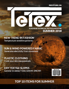 Tetex Magazine SUMMER 2018 - European technical textiles magazine