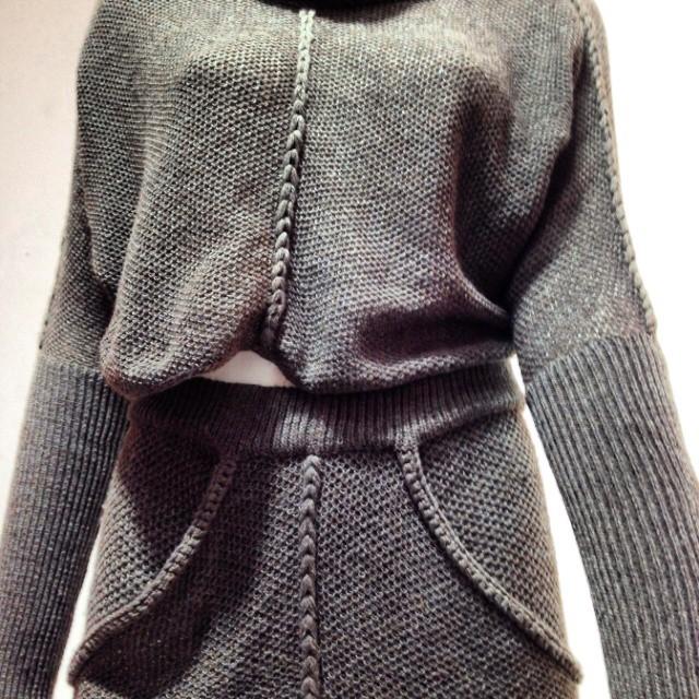 Suknia wykonana z kawy Textifood Milan